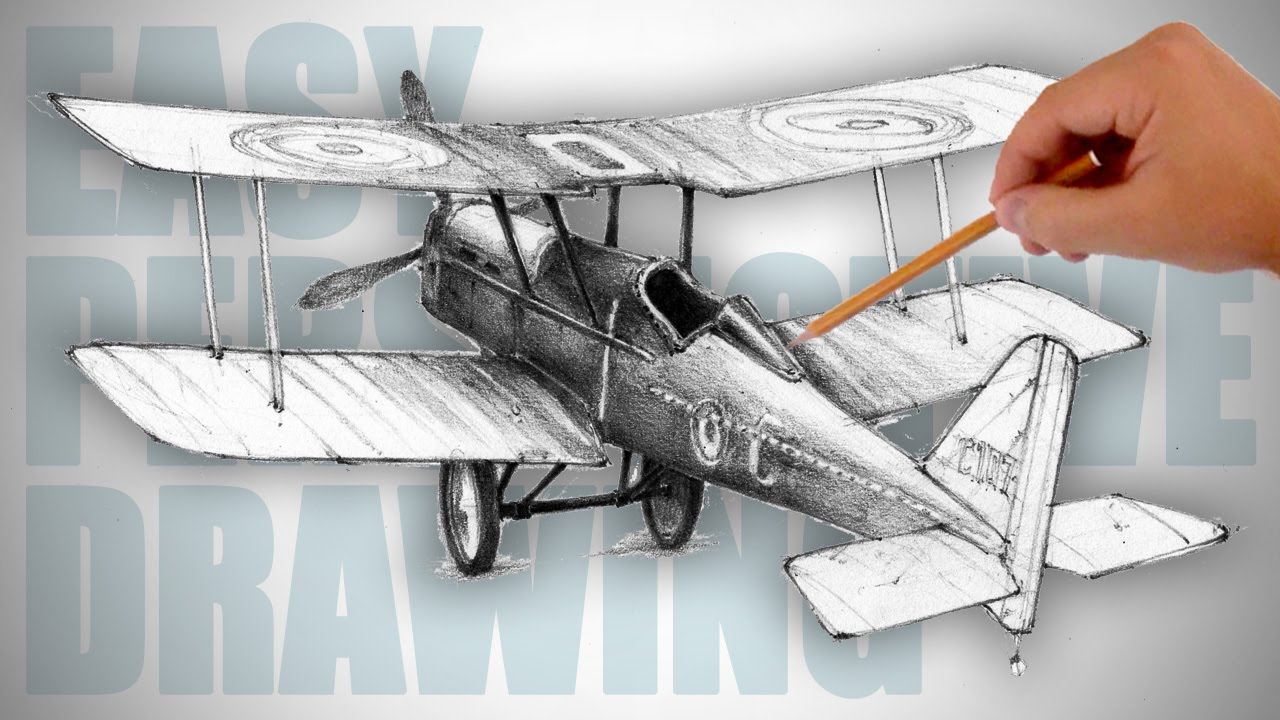 1280x720 How To Draw A Retro Airplane (World War I)