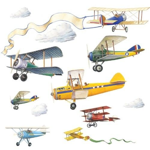 500x500 Vintage Plane Wall Decals Ames' Nursery Planes