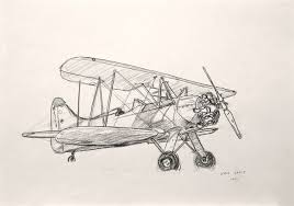 268x188 Old Plane Drawing