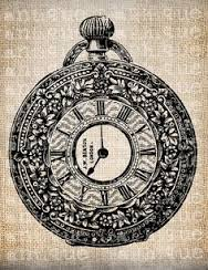188x244 Vintage Pocket Watch Drawing