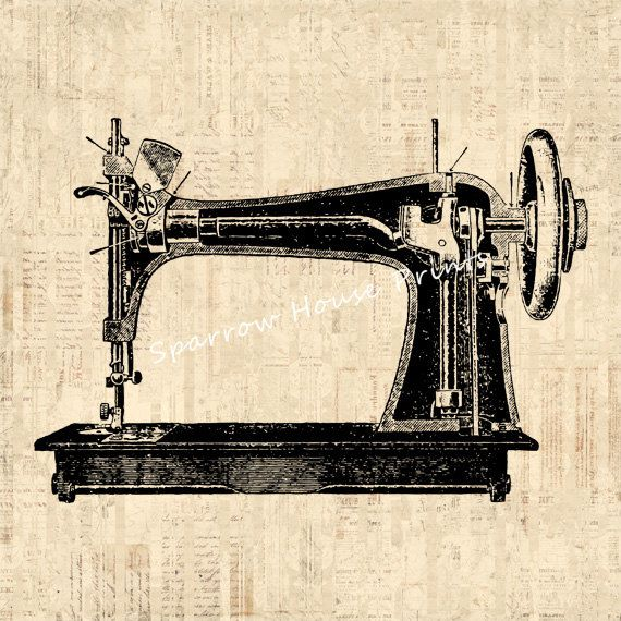570x570 Antique Sewing Machine Artwork Print Vintage Wall Art Sewing