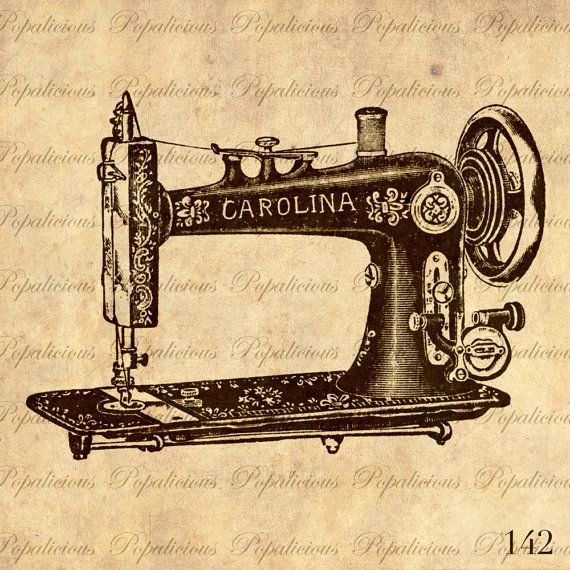 570x570 Antique Sewing Machine Vintage Illustration By Popalicious On Etsy