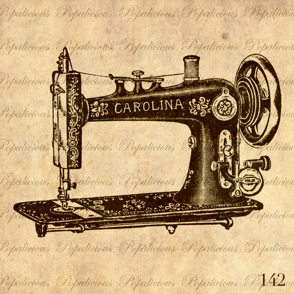Vintage Sewing Machine Drawing at GetDrawings.com | Free for ...