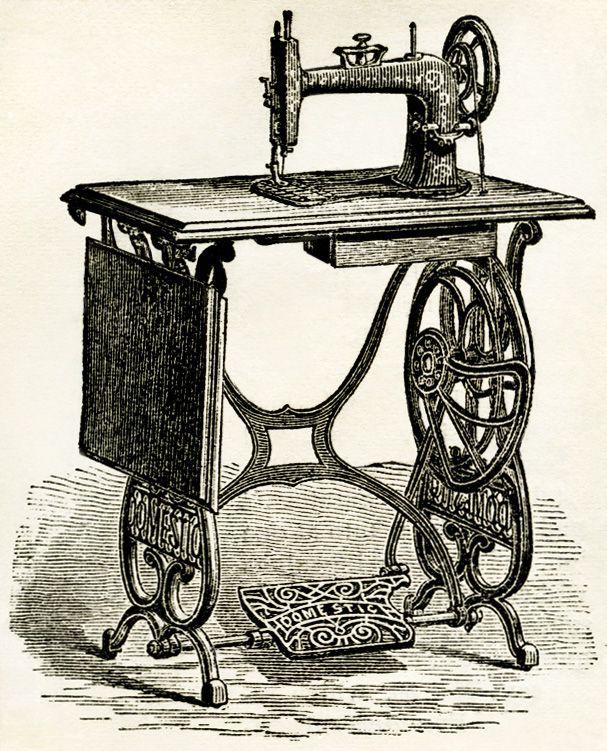 607x751 Old Design Shop ~ Free Digital Image Vintage Sewing Machine 1878