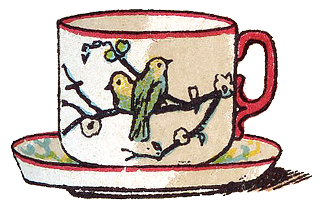 1350x876 Drawing Of A Teacup Drawn Teacup Vintage Teacup