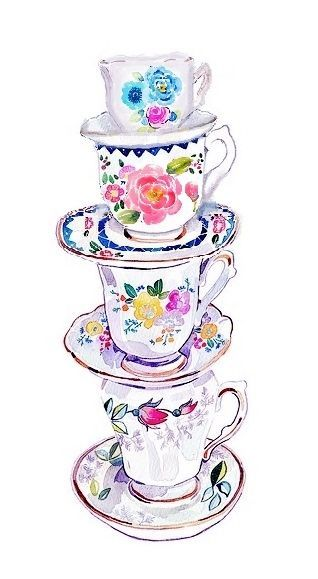 318x579 How To Draw A Teacup Drawing Illustration Ideas For Journal