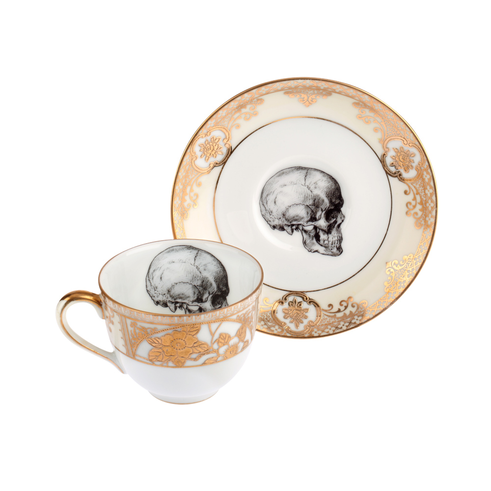 1000x1000 Upcycled Vintage Gold Skull Teacup Melody Rose London