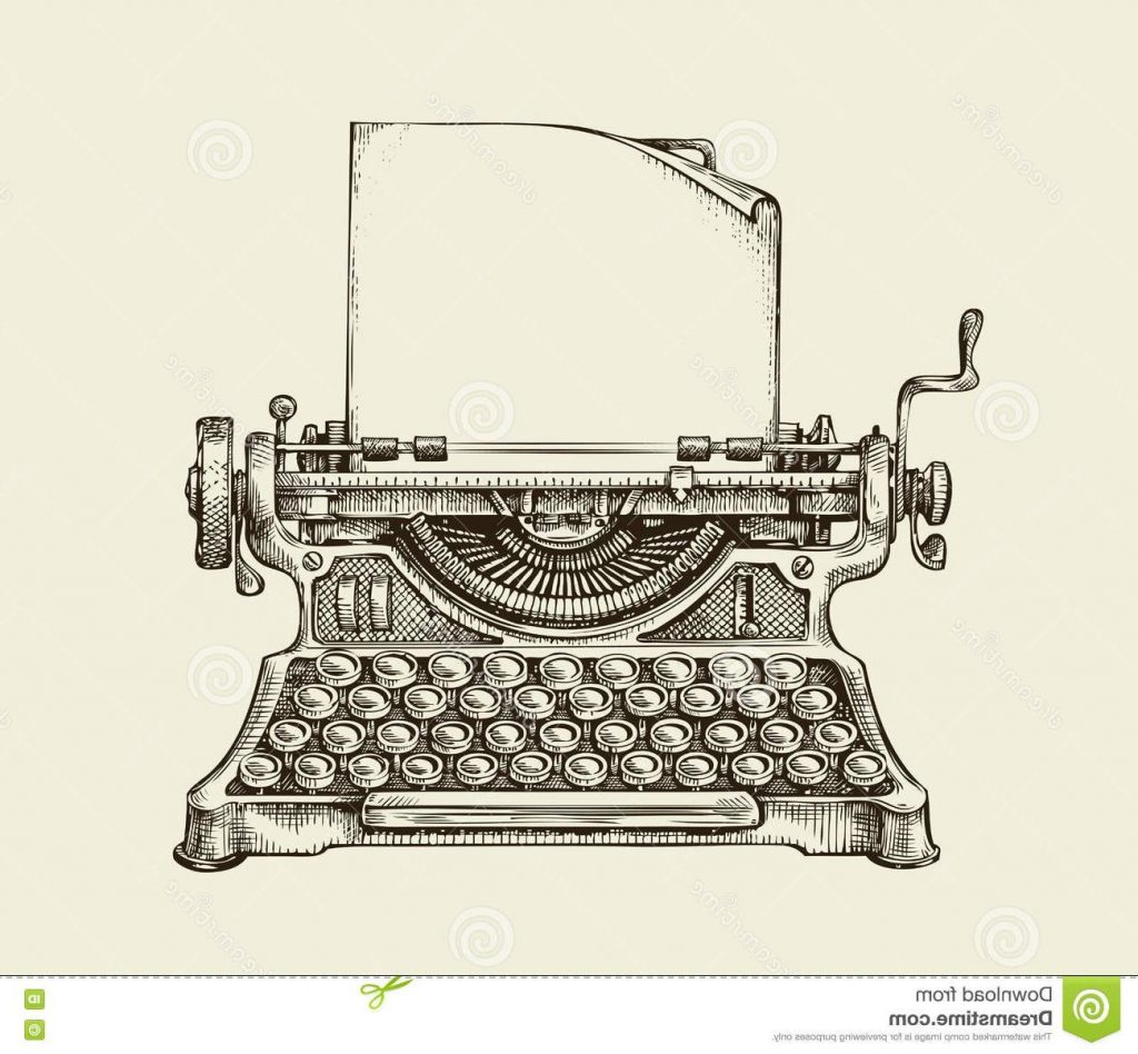 vintage typewriter drawing at getdrawings com free for hand print clip art svg hand print clip art svg