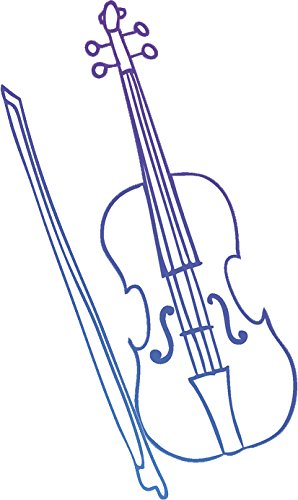 298x500 Colorful Musical Instrument Drawing Vinyl Decal