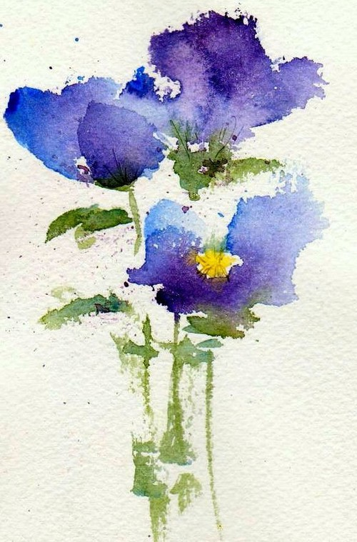 500x759 Drawing And Painting~ Violets By Anne Duke
