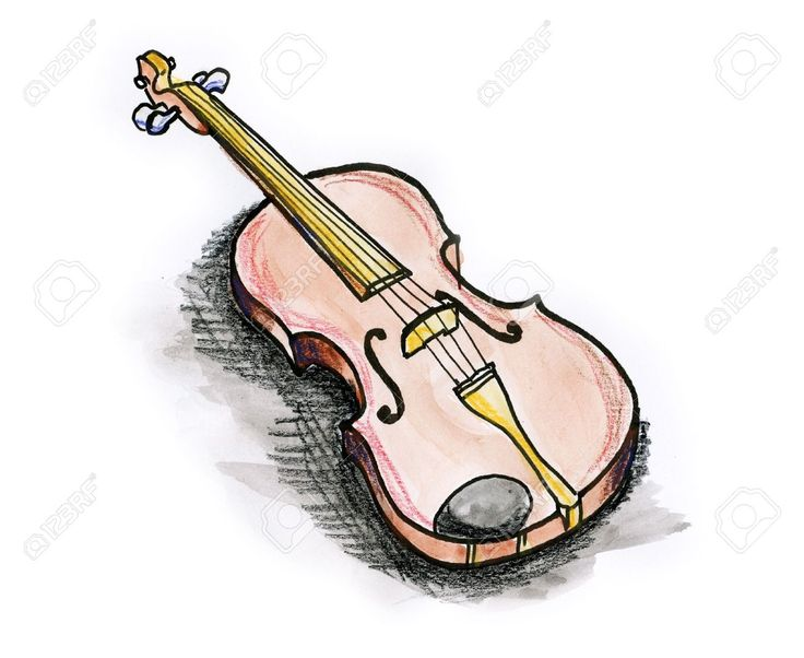 Cartoon Violin Images: Violin Cartoon Drawing At GetDrawings.com