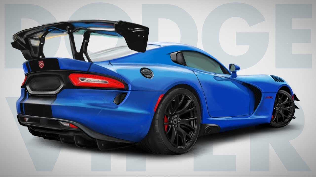1280x720 How To Draw A Dodge Viper Acr