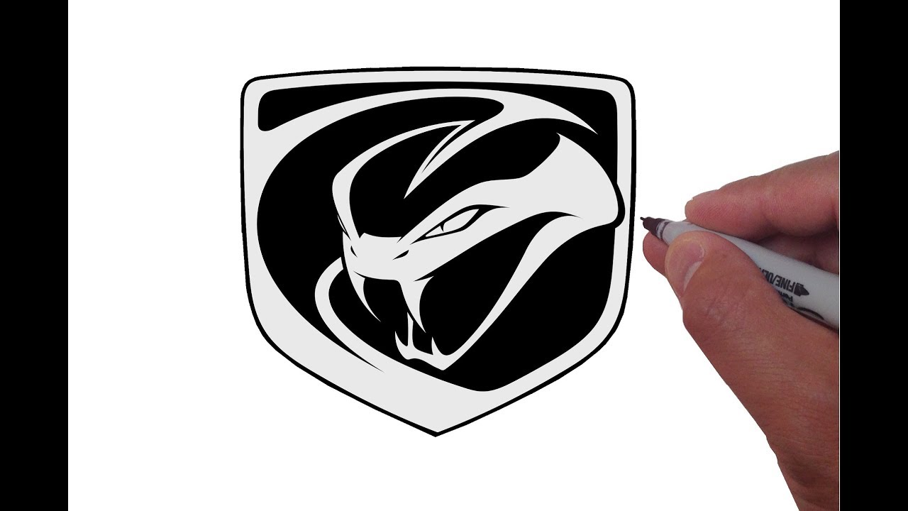 1280x720 How To Draw The Dodge Viper Logo