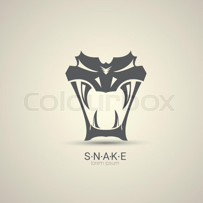 800x800 Vector Angry Dangerous Snake Logo Design Template. Danger Snake