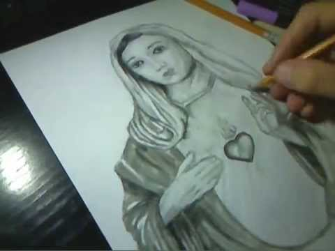 480x360 How To Draw Virgin Mary By Sakis Armian