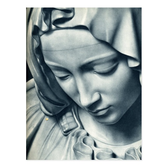 540x540 Pieta (Detail Of Virgin Mary), Michelangelo Postcard