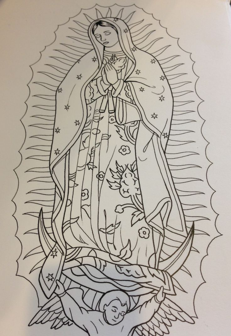 736x1072 Virgin Mary Drawings 38 Best Mary Tattoo Outlines Images