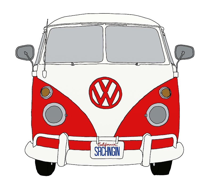 900x828 Vw Bus Front End Digital Art By Priscilla Wolfe