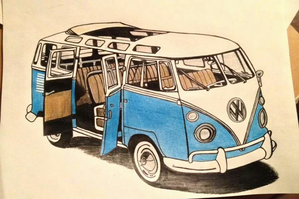 960x640 Vw Bus Drawing Vw Bus Board Vw Bus, Vw And Volkswagen