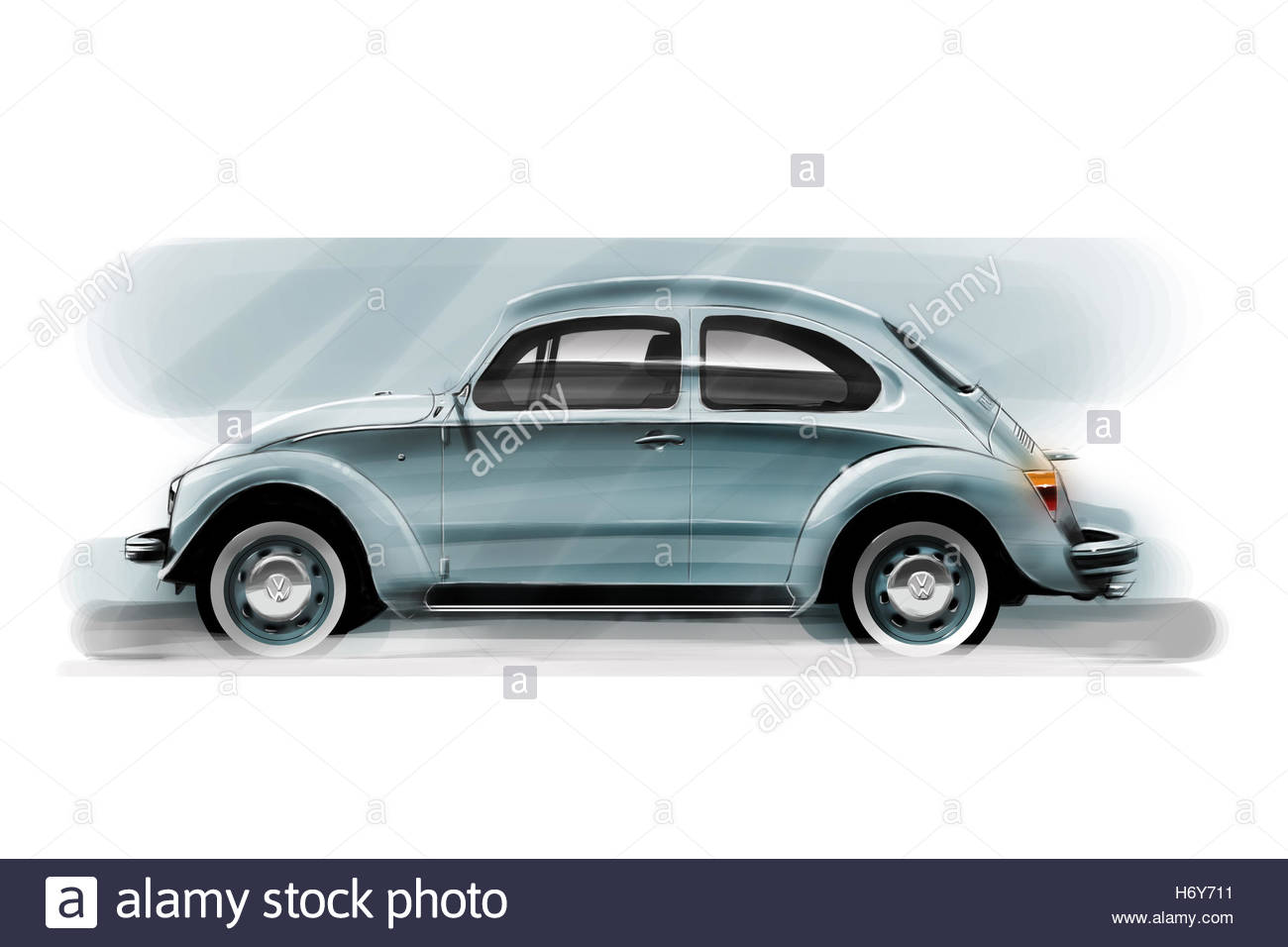1300x956 Volkswagen Beetle Car Drawing By Adrian Dewey, Author Of How