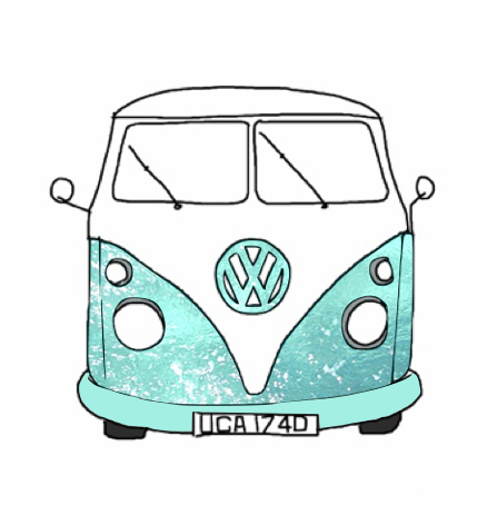 438x472 Hippie Van Tumblr Hippie Van Drawing Drawing Picture Blue Sketch