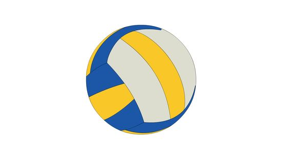 550x309 3 Ways To Draw A Volleyball
