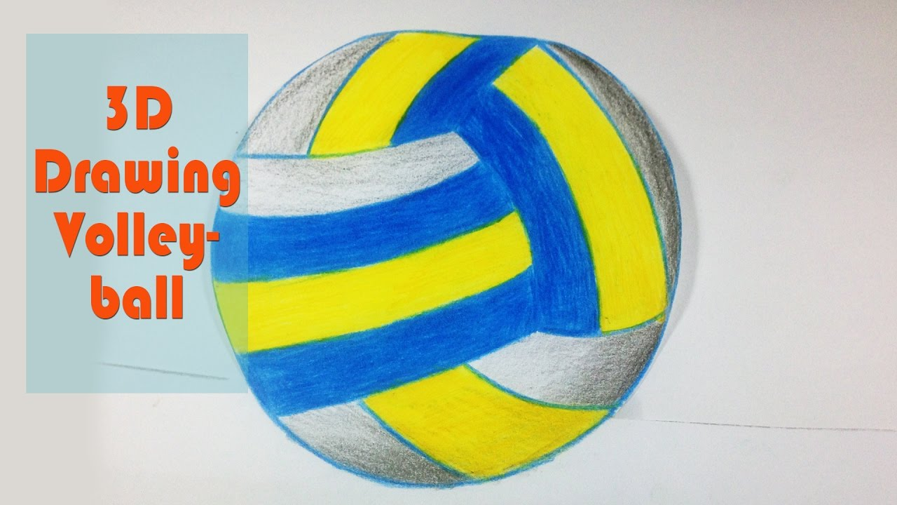 1280x720 3d Drawing Volleyball
