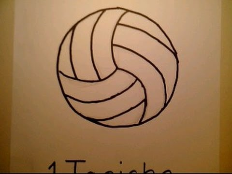 480x360 How To Draw A Volleyball Como Dibujar Una Pelota De Voleibol Net