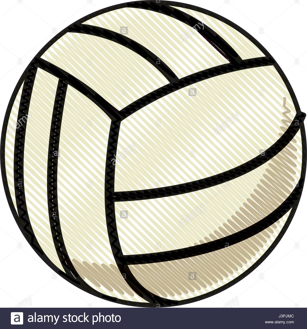 1300x1390 Drawing Volleyball Ball Sport Competition Element Stock Vector Art