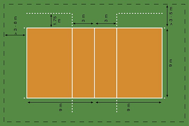 Volleyball Court Drawing at GetDrawings   Free download