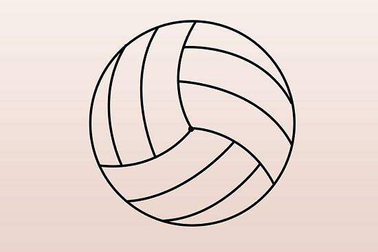550x367 Draw A Volleyball Volleyball, Craft And Volleyball Ideas