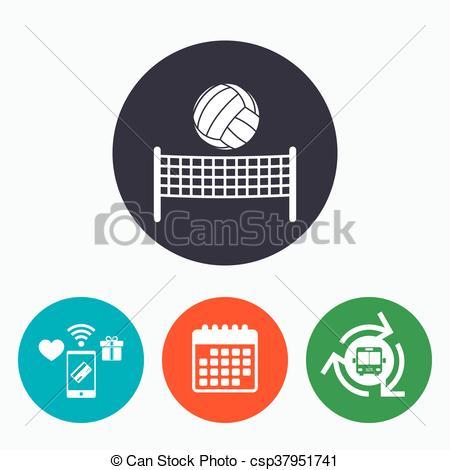 450x470 Volleyball Net Ball Icon. Beach Sport Symbol. Volleyball Net