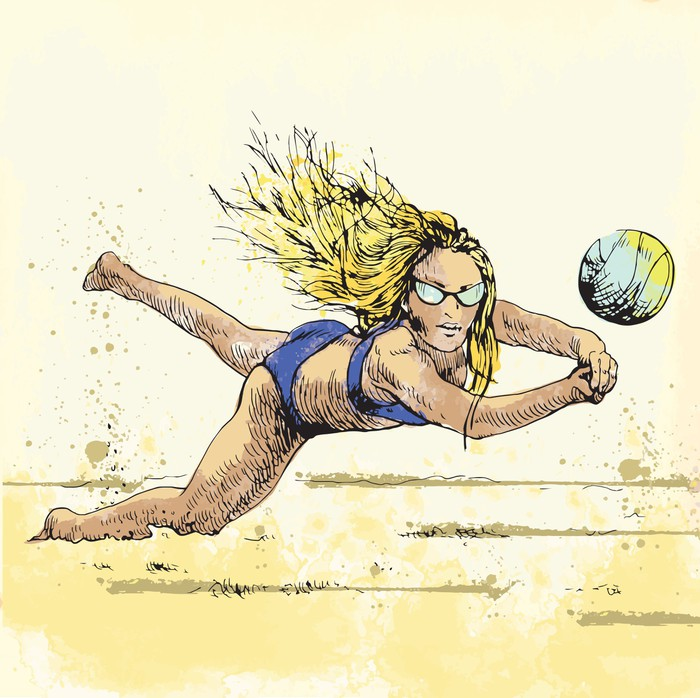 700x698 Volleyball Player