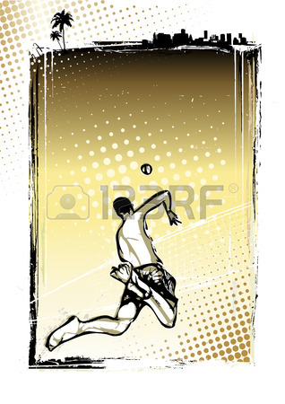 318x450 Illustration Of Three Volleyball Players Royalty Free Cliparts