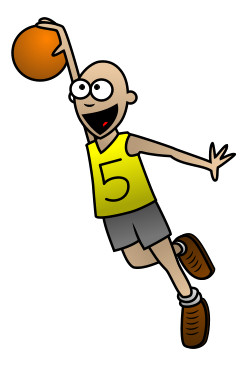 250x373 A Cartoon Basketball Player