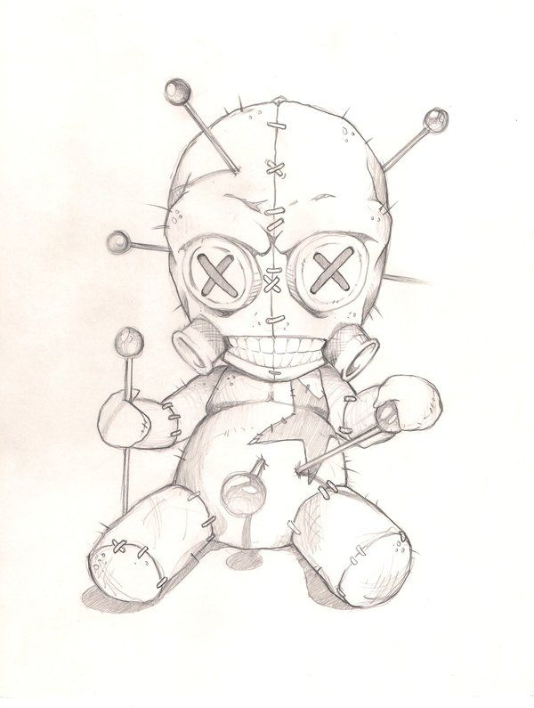 600x795 Voodoo Doll 2 By Joebananaz Tattoo Flash Art ~a.r.