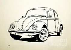 236x168 Drawing Of An Old Vw Bug Rear Mosaics Vw, Google