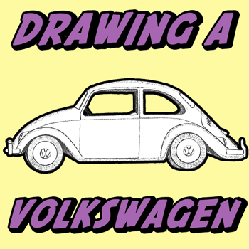 350x350 How To Draw A Volkswagen Beetle Punch Buggy With Easy Drawing