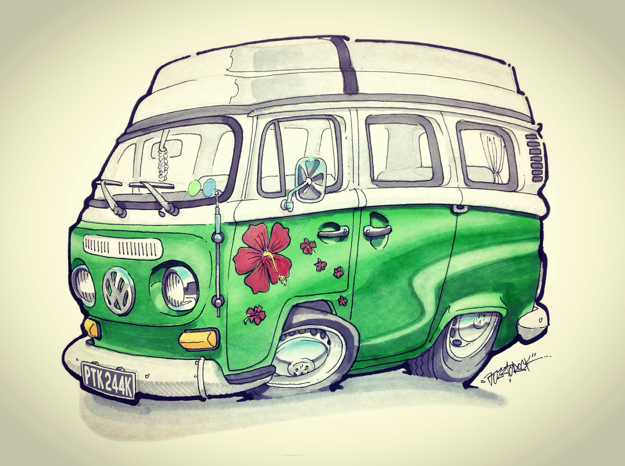 Vw Bus Drawing At Free For Personal Use Vanair Wiring Diagram 2048x1528 Commissioned Volkswagen Bay Window T2 Camper Van Air