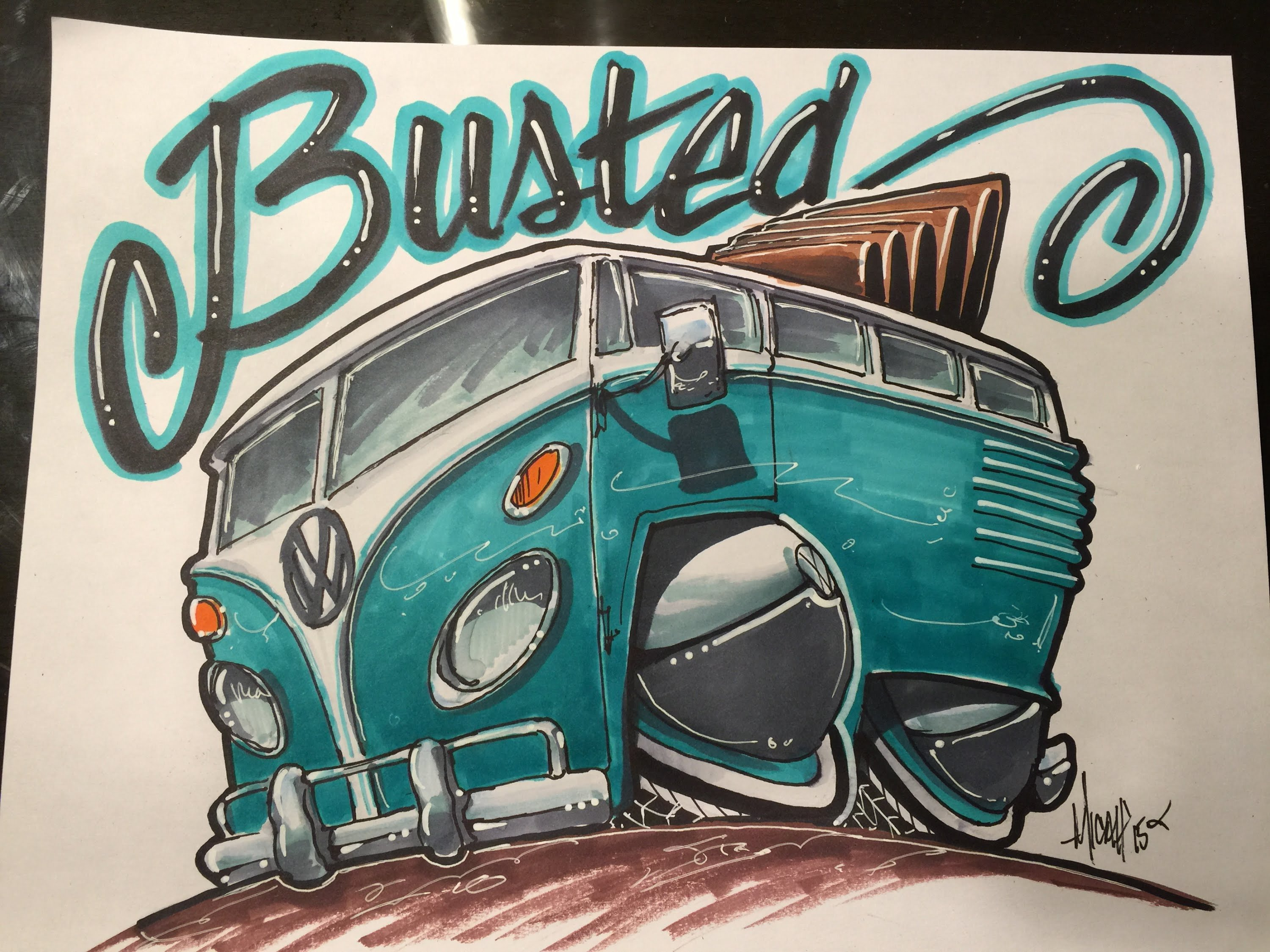 3000x2250 How To Draw A Vw Bus Time Lapse