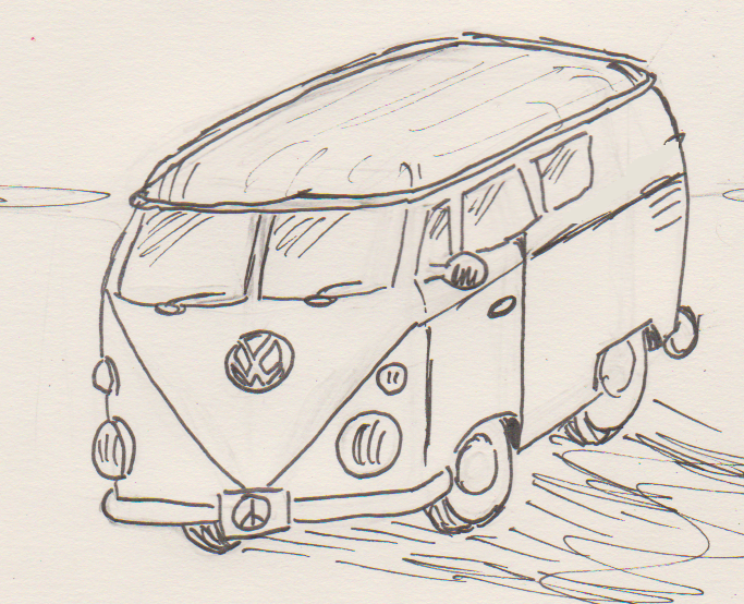 683x554 How To Draw A Vw Bus Bewilderedcomics