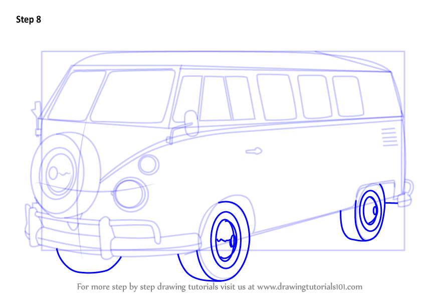846x600 Learn How To Draw Volkswagen Bus (Other) Step By Step Drawing