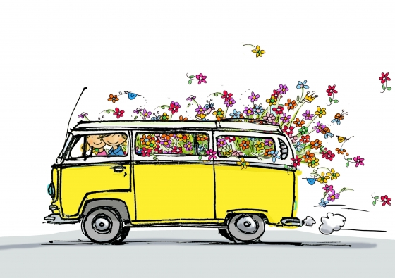 560x395 Pin By Ciclope Camper On Ilustraciones Kombi Vw Vw
