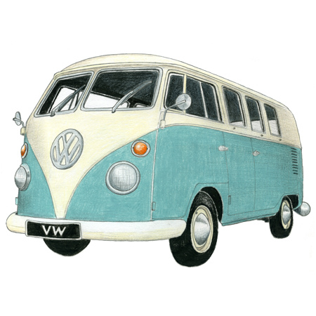 450x450 Vw Camper Drawing