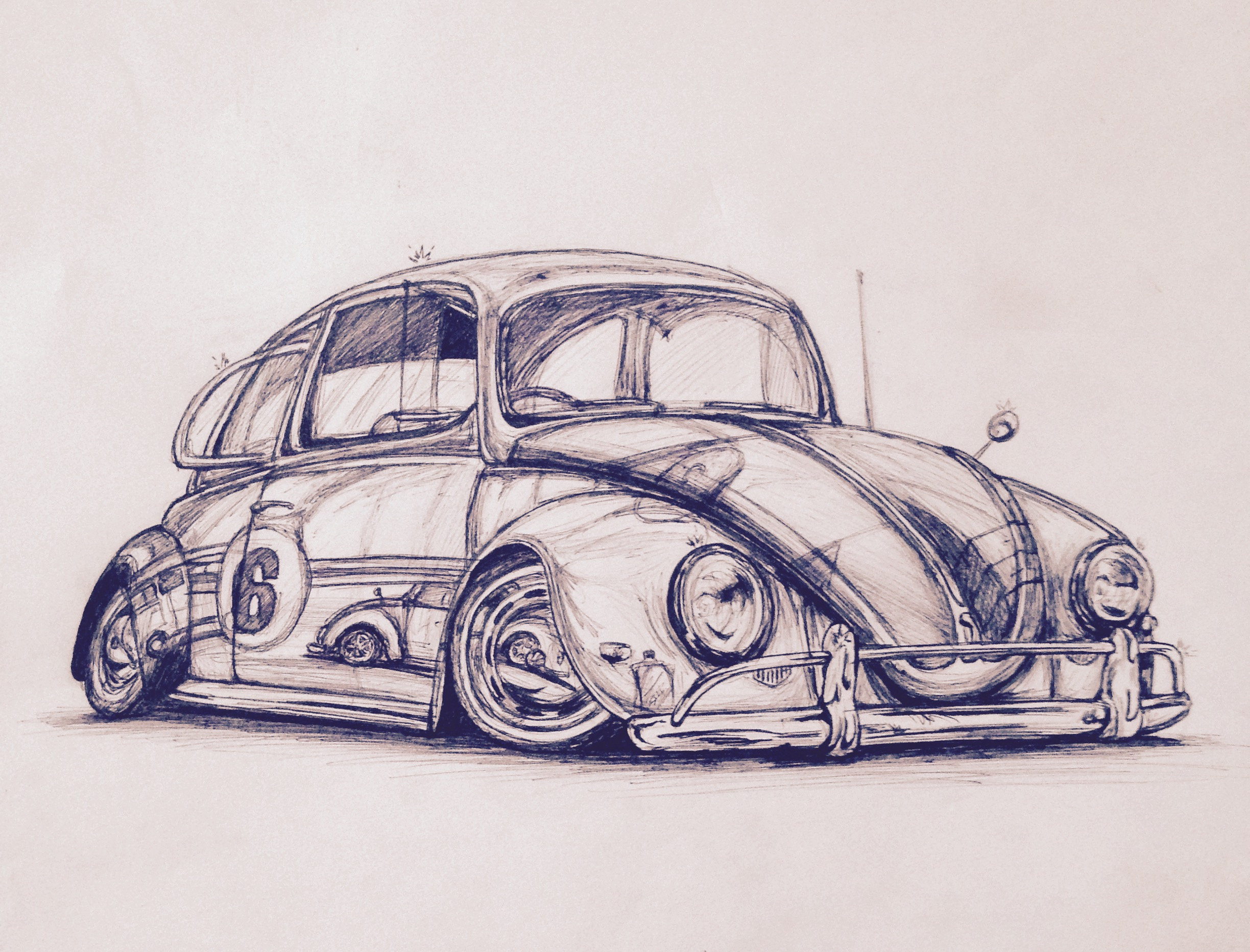 2448x1865 Vw Beetle Drawing Car Drawings Car Drawings