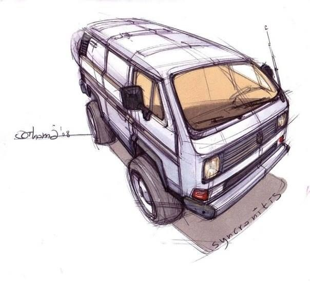 604x551 Vw Drawing Campervan Vw T Vanagon Syncro Westfalia California