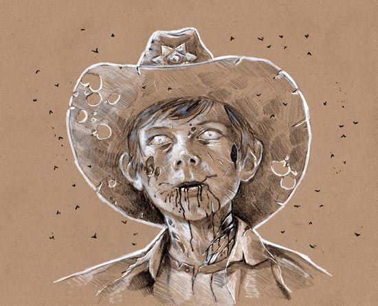 550x446 Carl. Dang, That's A Cool Sketch. There Are Ones Of Lori And Rick