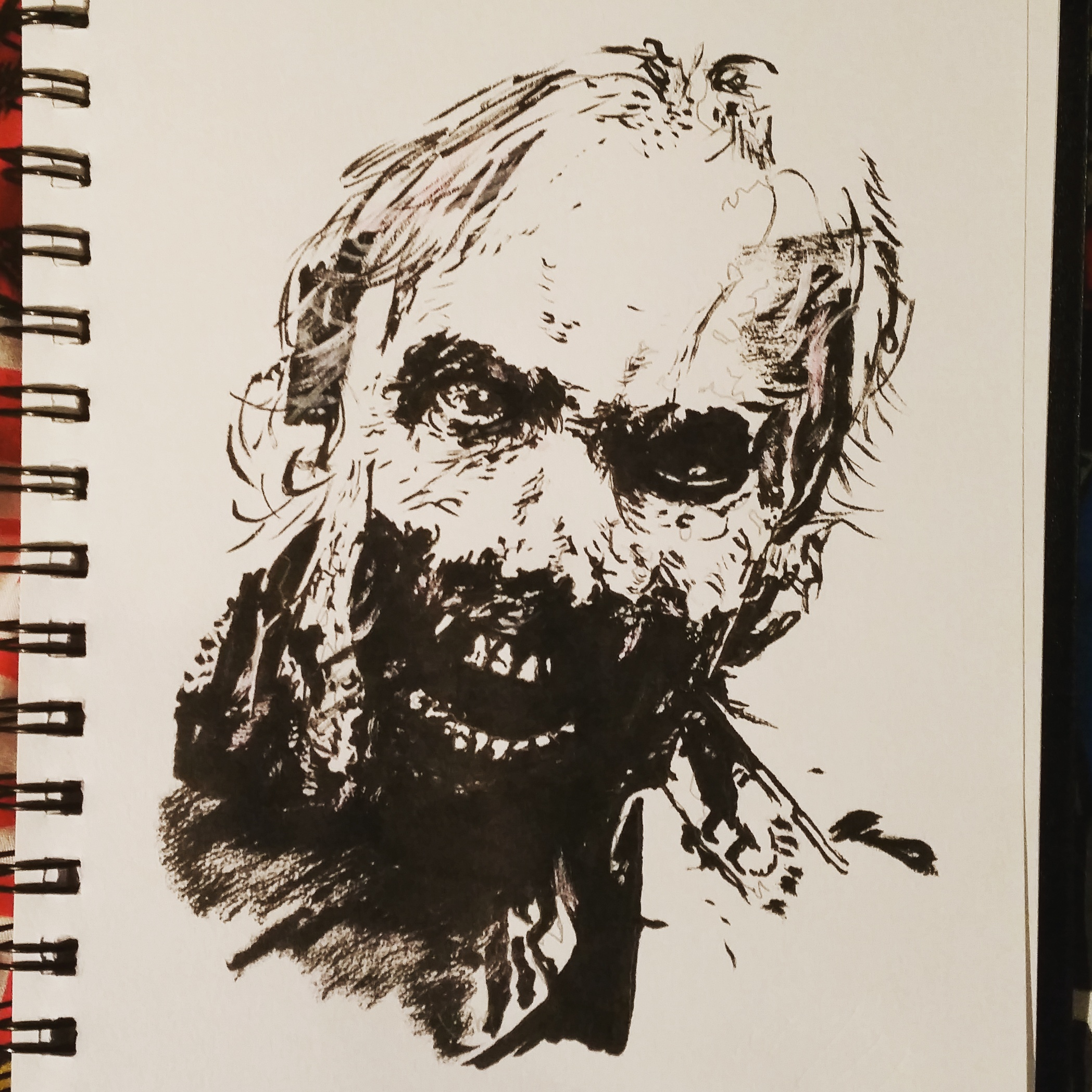 2097x2097 Zombie (The Walking Dead Ink Drawing)