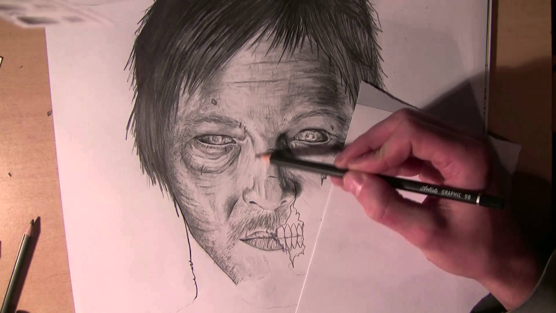 Zombie Face Line Drawing : Walking dead zombie drawing at getdrawings.com free for personal