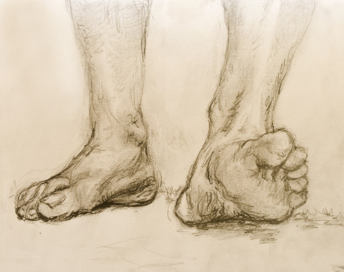 500x395 Walking Feet Draw, Arches Paper And Figure Drawings